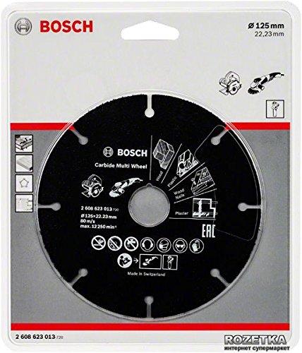 Bosch 2608623013 Trennscheibe Hartmetall Multi Wheel, 125 x 1 x 22,23 mm Test