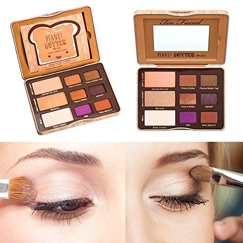 Brie Fuchi 12 Couleurs Fard à Paupières Palette de Maquillage Rougir Cosmétique Set - Convient Parfaitement pour une Utilisation Professionnelle ou à la Maisons
