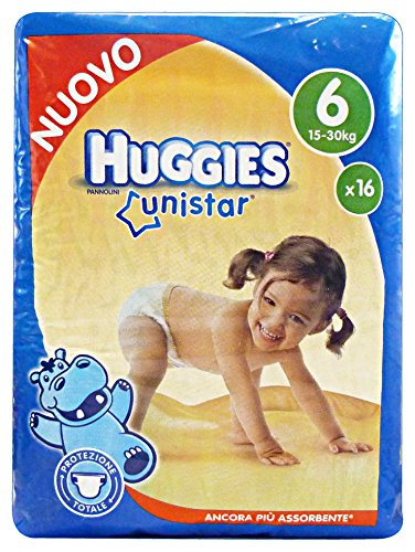 Huggies 02474277Unistar P. sin XL, talla 6, para 15–30kg