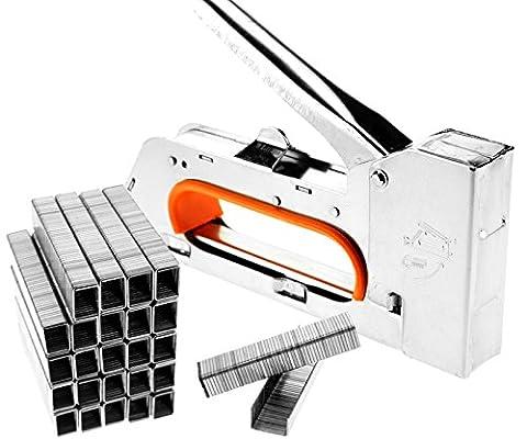 Tech Traders® Stahl-Heftpistole, 4/6/8mm, Tacker, Polster-Hefter, ohne Heftklammern (Polster Hefter)