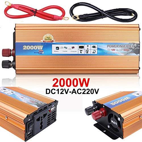 ATOMICO 2000W modifizierter Sinus-Wechselrichter, 12V Wechselstrom 110V, elektronischer Ladegerät-Konverter mit Wechselstromanschluss,Gold - Spannungswandler 240v Zu 110v