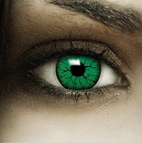 Kontaktlinsen Monster (Farbige grüne Kontaktlinsen
