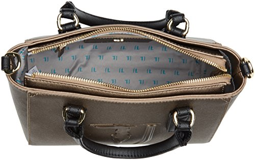 Trussardi Jeans Ischia Mini, Borsa a Tracolla Donna, 25 x 20 x 15 cm (W x H x L) Multicolore (Bronze/Black)