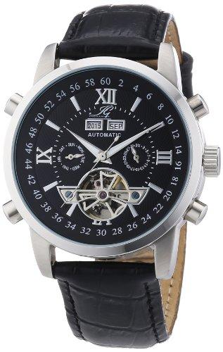 Ingraham - IG CALC.1.200107 - Montre Homme - Automatique - Analogique - Bracelet Cuir Noir