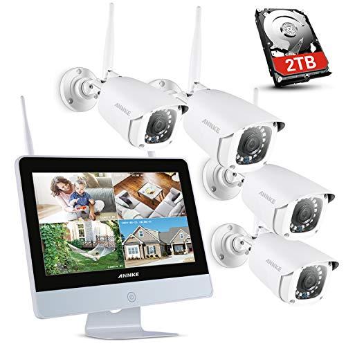 ANNKE Überwachungskamera Set Außen Kabellos mit 4 x 1080P WiFi Wasserdicht Kamera System 12