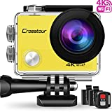 Action Kamera Wifi Cam 1080P Full HD Crosstour 2' LCD Sports Cam 170°Weitwinkel Helmkamera...