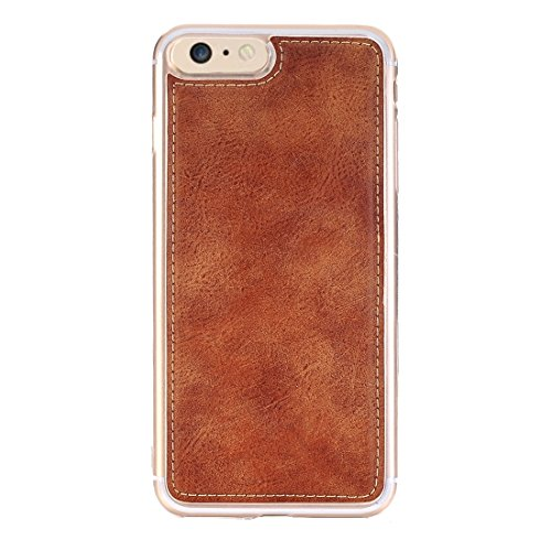 Retro Style verrückte Pferd Textur Horizontale Flip Leder Tasche mit abtrennbarer Rückseite Cover & Zip Fastener & Card Slot & Wallet & Magnetic Buckle für iPhone 6 & 6s by diebelleu ( Color : Brown ) Brown