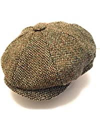 519009c6e56 Harris Tweed Men s Modern Peaked 8 Piece Newsboy Baker Boy Pre-Shaped Cap