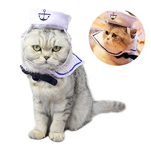 mhut für Katzen und Hunde, Weihnachtsbaumhut, Größe L, Matrosen-Kostüm ()