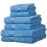 Linens Limited Supreme 100% Egyptian Cotton 500gsm 6 Piece Hotel Towel Set, Cobalt