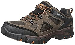 Men s Spire Low Waterproof Hiking Shoe Dark Brown/Orange/Black 9.5 D(M) US