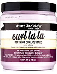 Aunt Jackies Curl La La Custard Crème de Definition de Boucles Enrichie en beurre de karité et en huile d'olive - Pot de 425 g