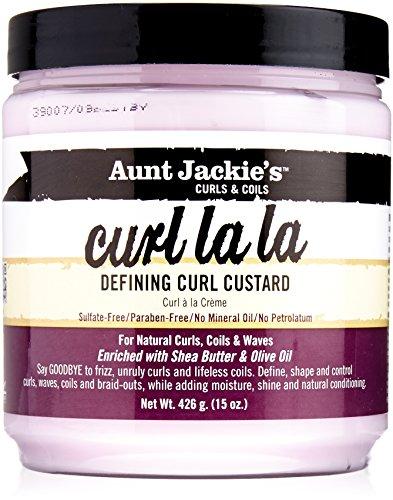 Aunt Jackies Curl La La Crème de Définition de Boucles Enrichie en beurre de karité et en huile d'olive - Pot de 425 g