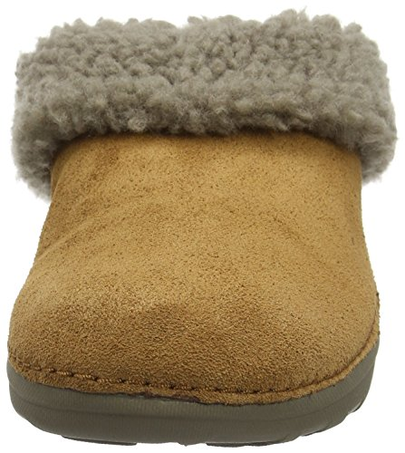 FitFlop Loaff Snug, Pantoufles Femme Marron - Brown (Chestnut)