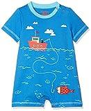 Hatley Baby-Jungen Spieler Mini Romper, Blue (Fishing Day), 92