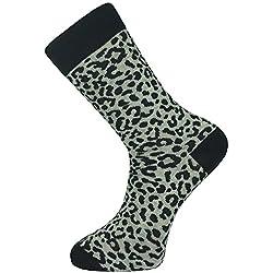 Mysocks® tobillo calcetines gris leopardo impresión