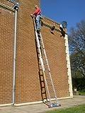 5.69m TRADE MASTER 3 Section Extension Ladder with Integral Stabiliser PLUS Step Platform