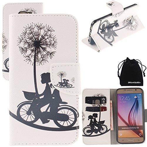 Preisvergleich Produktbild S6 Case,  DRUnKQUEEn PU Leather Credit Card Holder Case Stand Feature Wallet Type Flip Folio Cover - for G920 Samsung Galaxy S6