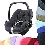 BAMBINIWELT Sommerbezug, Schonbezug, Bezug aus Frottee für MAXI-COSI PEBBLE Babyschale (dunkelgrau)