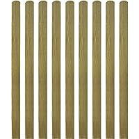 vidaXL Listones de Material Madera Impregnados para Cercado Pack 10 uds Medidas 140 cm