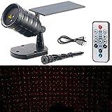 Lunartec Laser Sternenhimmel: Solar-Laser-Projektor mit Akku, Sternenregen-Lichteffekt, Timer, IP65 (Laserprojektor)