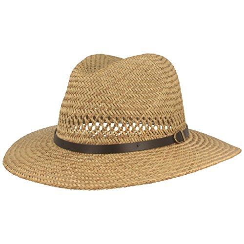 Strohhut | Sommerhut | Sonnenhut – Handgeflochten aus 100% Stroh – Bogart – Besonders Leicht, Flexibel, Hautfreundlich & Bequem – Natur - Gr. L