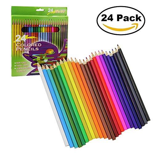 Bleistift, kbnian Buntstifte, 24-color Professional Zeichnen Bleistift für Kinder Malen, Künstler...