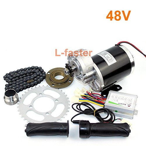 L-faster 36V48V 600W Electric Brush Gear Motor Kit MY1020Z Electric Pedicab Economical Conversion Kit High Quality Trishaws Engine System (48V normal kit)