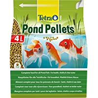 Tetra Pond Floating Fish Food Pellets, Complete Fish Food for All Pond Fish, 4 Litre