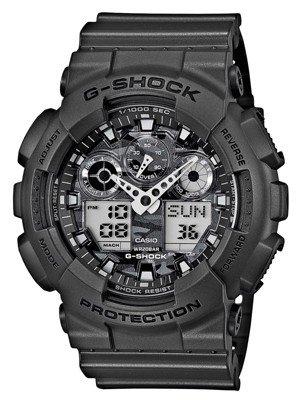Casio G-Shock – Reloj Hombre Analógico/Digital con Correa de Resina – GA-100CF