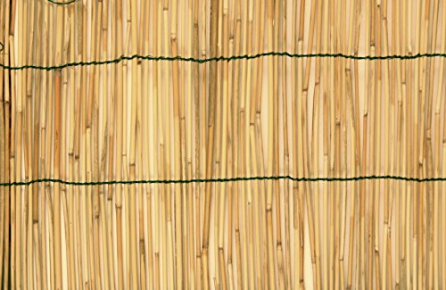 Sichtschutzwand aus natürlichem, verbunden mit Nylonfäden