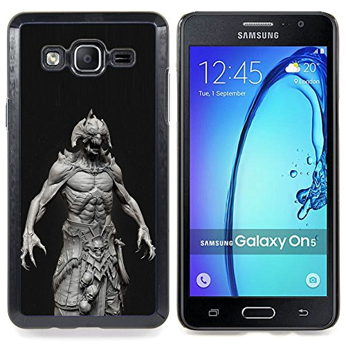 For Samsung Galaxy On5 O5 Case , Monster Satanás Abs Hombre Demonio Negro - Design Pattern Duro Staccabile Stile Telefono Cellulare Nuovo Caso Cover Guscio Duro