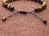 COAI® Geschenkidee Ein Paar Partner Armbänder aus Lavastein und Tigerauge Gelb für Damen und Herren