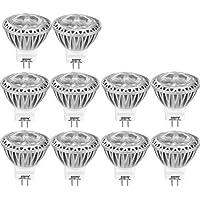 AGOTD Lot de 10 Ampoules LED Spot GU4 Led 12V AC/DC 3W Lampe, 35X38mm(1.38x1.50 inch), MR11 Eclairage, Petite Mini Spot Lumiere 3 Watt 250 Lumen,Bianco Freddo, Culot GU4, 35W Ampoule Halogene equivalent, 6000k