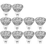 AGOTD MR11 GU4 LED Lamp Bulb, 3 Watt Spot light, 35X38mm(1.38x1.50 inch), 12 Volts AC DC Lighting Fixture, Daylight White 6000K,20W 35W Halogen Lamp Equiv,250 Lumen, Not Dimmable, Set of 10