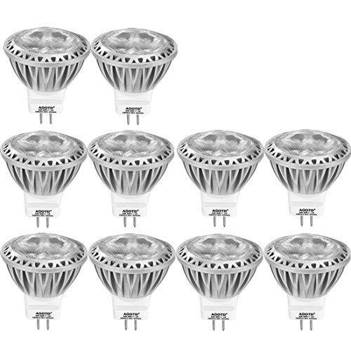 Vier Light Mini Leuchter (Led Gu4 Led MR11 12v kaltweiß, Agotd LED-Lampen Kaltweiss,35mmX38mm,3 W Spot, 12 Volt AC DC,GU 4.0 Sockel,ersetzt 20W 35W Halogenlampen,Leuchtmittel, 10er Pack)