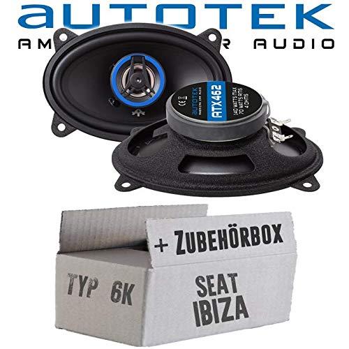Lautsprecher Boxen Autotek ATX-462 | 2-Wege oval 10x15cm Koax Lautsprecher 4'x6' Auto Einbauzubehör - Einbauset für Seat Ibiza 6K Heck - JUST SOUND best choice for caraudio