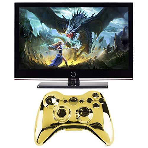 Jasnyfall Wireless Controller Shell Fall Stoßstange Thumbsticks Tasten Spiel für Xbox 360-Farbe: Gold (360-controller Und Shell Xbox)