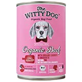 The Witty Dog, BIO Hundefutter Feucht, Komplet Menu: Rind mit Karotten & Amaranth, Dosen 6x400 Gr. (Nass Naturprodukt Puppy, Welpen, Erwachsene, Senioren)