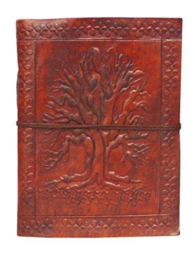 Zap Impex  Leder Life Of Baum förmigen dunkelbraun Tagebuch Sketch Notebook Sammelalbum...