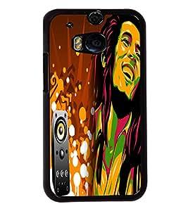 Fuson Bob Marley Music Back Case Cover for HTC ONE M8 EYE - D4081
