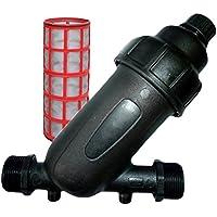 """HidroRain FR-1 - Filtro de Malla 1"""" para tuberías de 32 mm, 18 x 9 x 18 cm, Color Negro"""