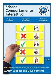 Autism Supplies And Developments- Tablero de Comportamiento Visual Interactivo de plástico (Italiano) (IT_INT)