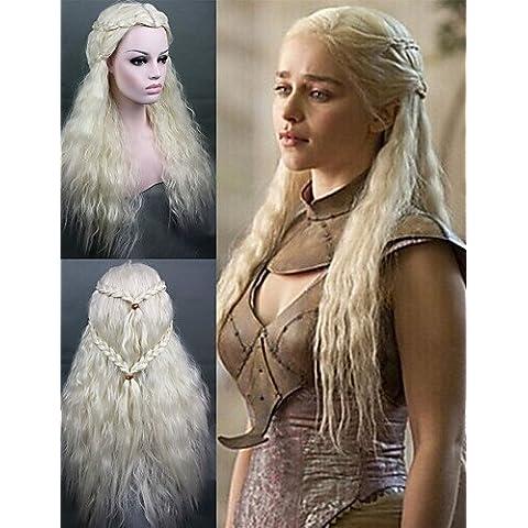 BBDM cosplay gioco parrucca of thrones Daenerys ispirato parrucca di capelli sintetici sexy cosplay partito di modo / parrucche della signora