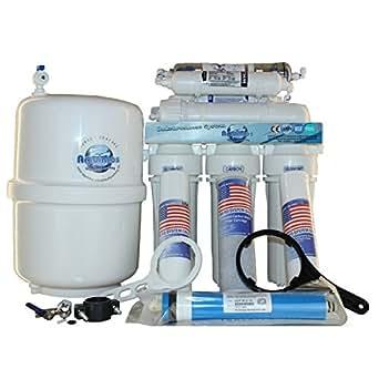 Umkehrosmose 7-stufig mit 1-Wege Wasserhahn und 8 Liter Vorratsbehälter