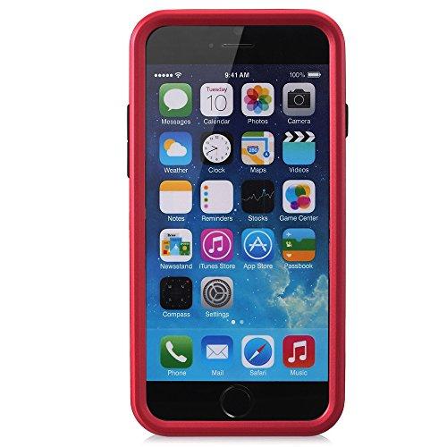"Fosmon HYBO-ARMOR Abnehmbar Hybride TPU + PC Case Cover hülle mit Stund für Apple iPhone 6/6s (4.7"") - Blau rot"