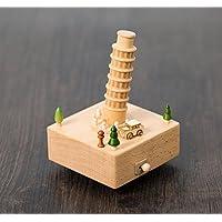 Lieblich Dreamer Life Dekoration Zubehör Kreative Holz Handwerk Mini Peseta Schiefer  Turm Spieluhr Für Geburtstagsgeschenk