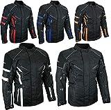 HEYBERRY Herren Touren Motorradjacke Textil schwarz Gr. 4XL