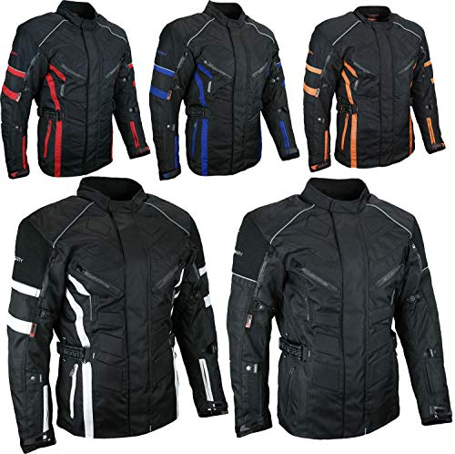 HEYBERRY Herren Touren Motorradjacke Textil schwarz Gr. 3XL - Supermoto Jacke