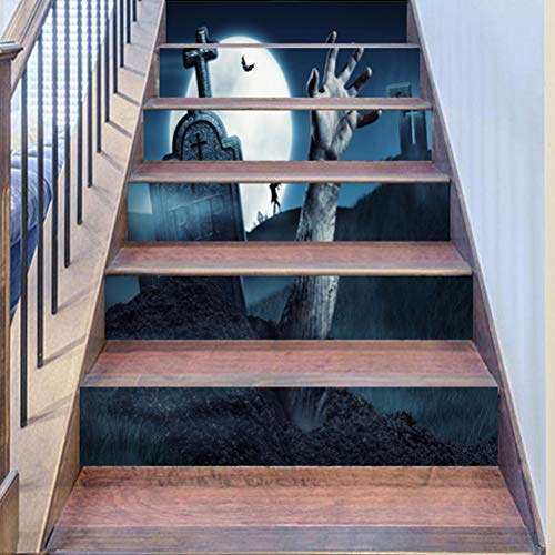 DFGTHRTHRT 3D Simulation Treppenaufkleber entfernbare Wasserdichte Wandaufkleber Schlafzimmer Wohnzimmer DIY Tapete Wandabziehbilder (Color : WLT012, Size : OneSize)